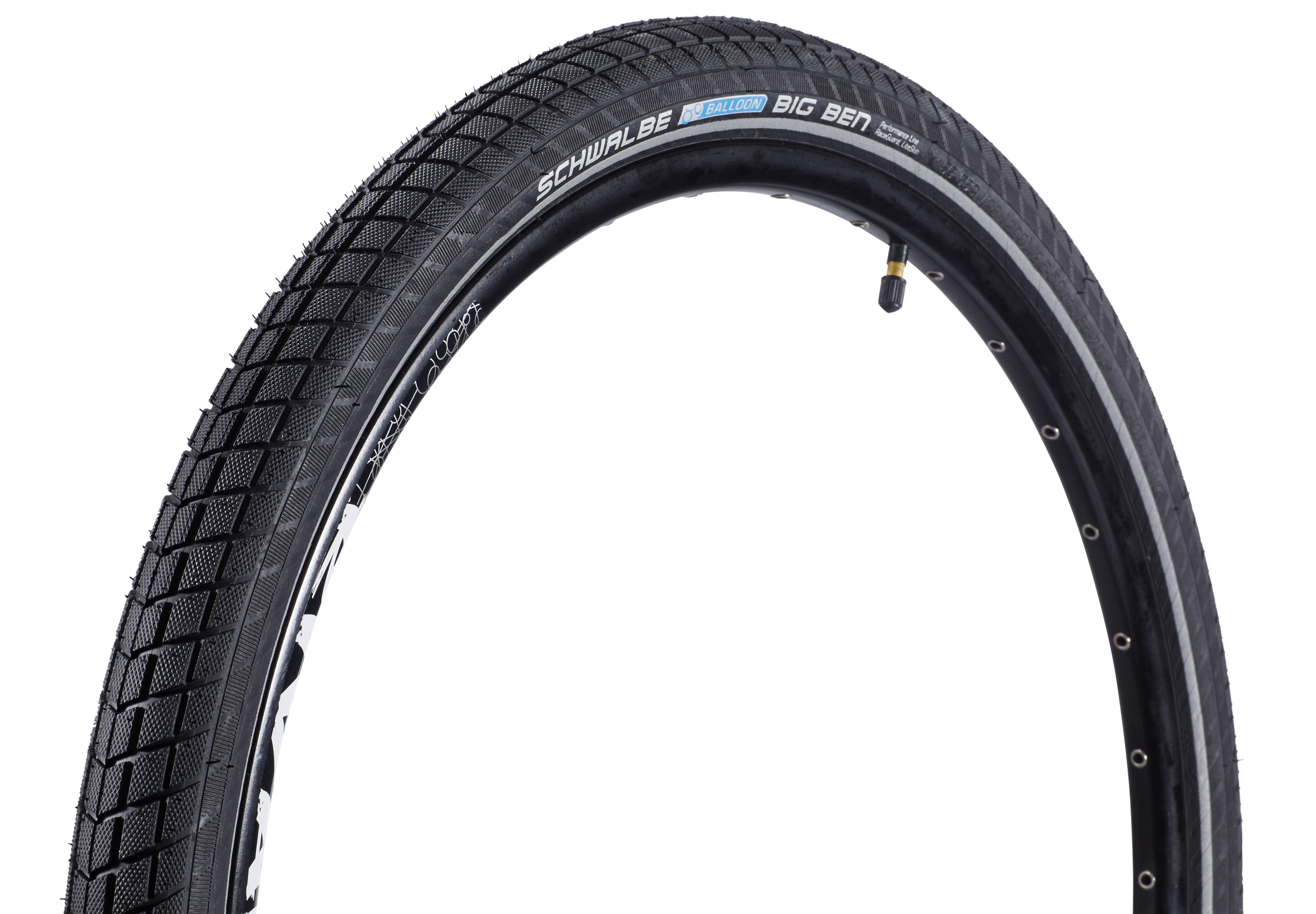 2 x Schwalbe Big Apple RaceGuard Wire Reflex Tyre 26 x 2,35 60-559 Black